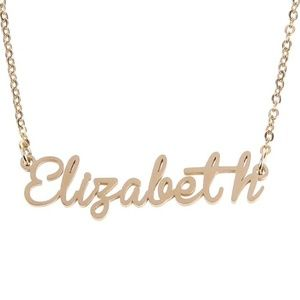 Jewelry - Elizabeth Gold Name Nameplate Necklace B25